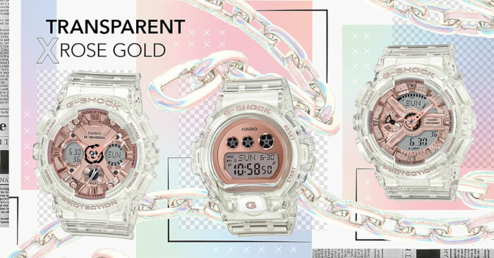 G-Shock GMA-S120SR-7A GMD-S6900SR-7 GMA-S110SR-7A Clear Transparent Rose Gold
