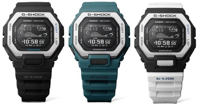 G-Shock G-LIDE GBX-100: GBX-100-1 GBX-100-2 GBX-100-7