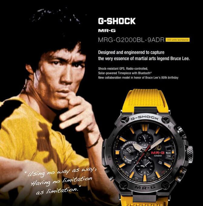 Bruce Lee x G-Shock MRG-G2000BL-9A for 80th Birthday – G-Central G-Shock Watch Fan Blog