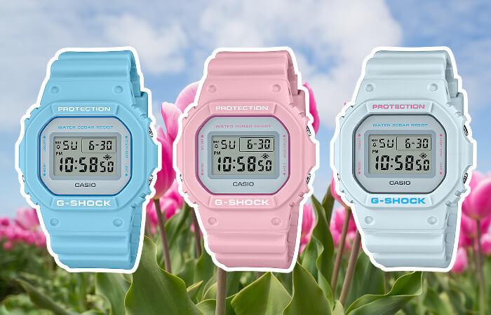 G-Shock DW-5600SC Spring Color DW-5600SC-2 DW-5600SC-4 DW-5600SC-8