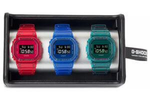 G-Shock DW5600SB Color Skeleton Gift Box Set at Bloomingdale's