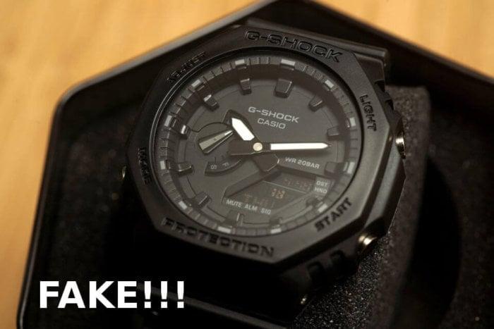 Fake Casio G-Shock GA-2100-1A1