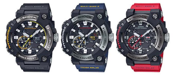 G-Shock Frogman GWF-A1000: GWF-A1000-1A GWF-A1000-1A2 GWF-A1000-1A4 First Analog Frogman