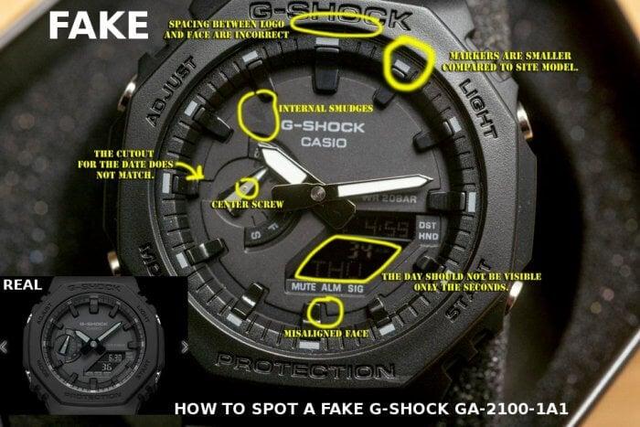 How to Spot a Fake Casio G-Shock GA-2100-1A1