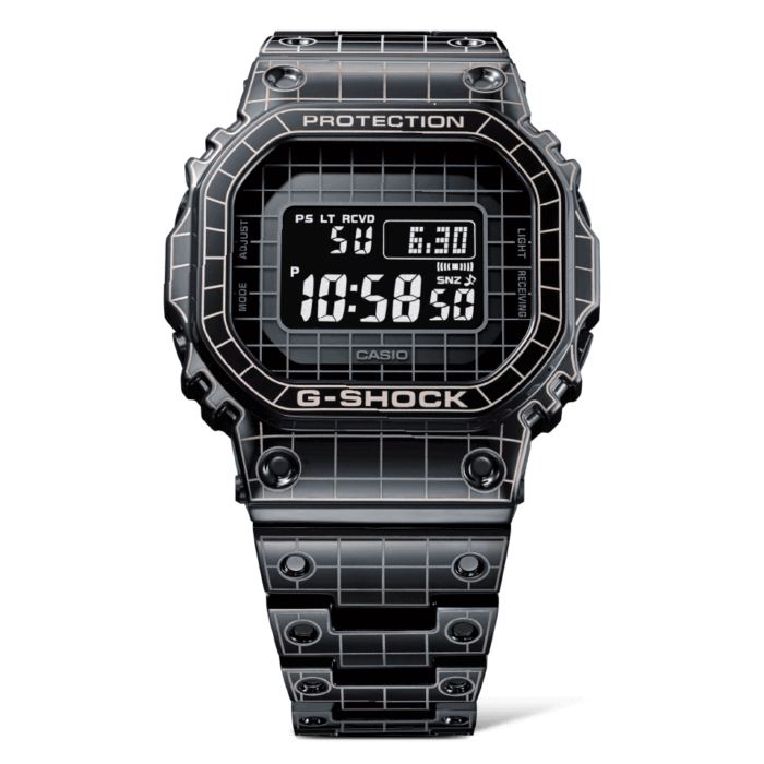 G-Shock GMW-B5000CS-1 Laser-Carved Grid