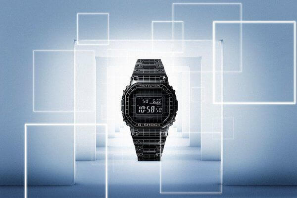 G-Shock GMW-B5000CS Laser-Carved Grid Case and Band