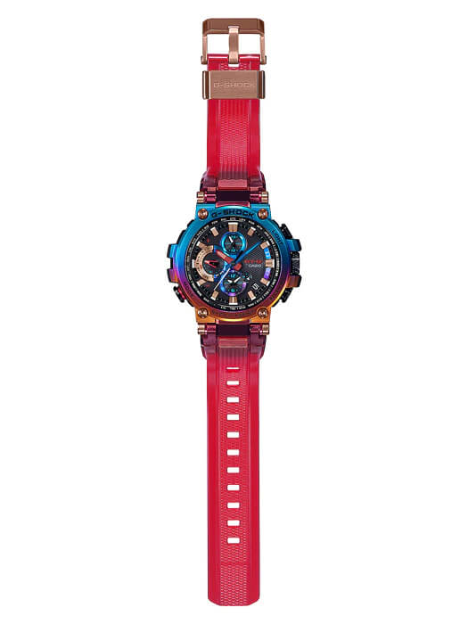 G-Shock MTG-B1000VL-4A with Translucent Red Band