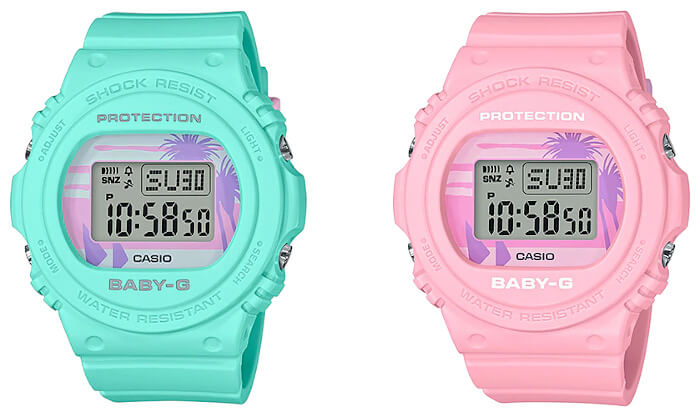 Baby-G BGD-570BC Beach Color Series: green BGD-570BC-3 pink BGD-570BC-4
