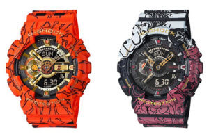 Dragon Ball Z GA-110JDB-1A4 and One Piece GA-110JOP-1A4 G-Shock Collaborations for 2020