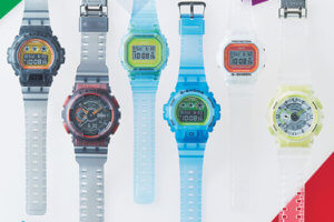 G-Shock Color Skeleton Series with Fluorescent Accents