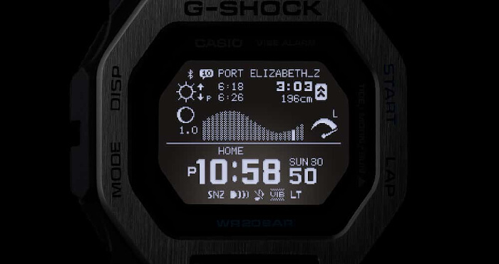 G-Shock GBX-100 Tide and Moon Graph Display