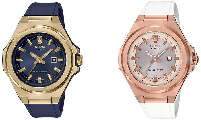 navy blue and gold MSG-S500G-2A and white and rose gold MSG-S500G-7A2