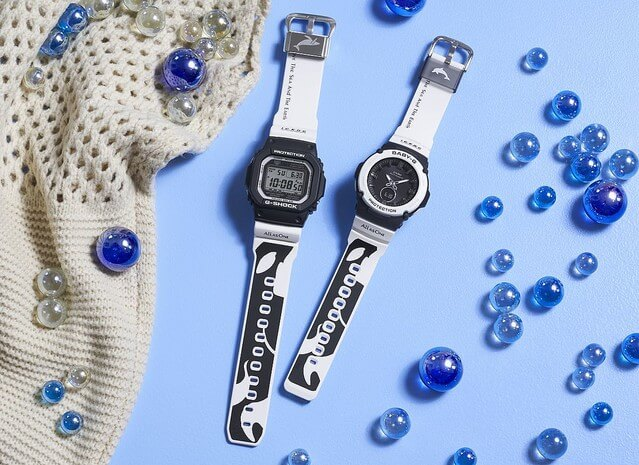 G-Shock GW-M5610K-1JR & Baby-G BGA-2700K-1AJR Love The Sea And The Earth I.C.E.R.C. 2020 Orca Editions