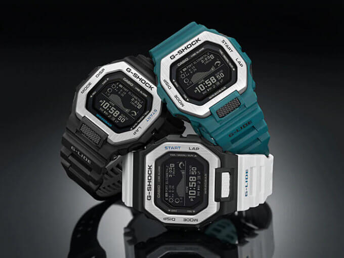 G-SHOCK G-LIDE GBX-100 BLACK, BLUE, WHITE-BLACK