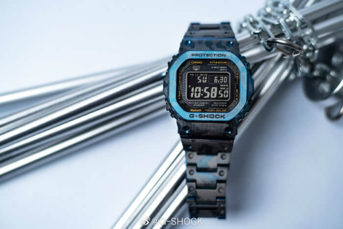 G-Shock GMW-B5000TCF-2 Titanium Blue Camo