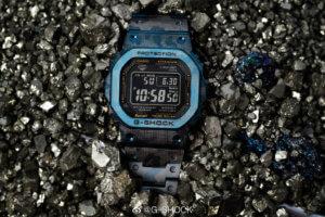 G-Shock GMW-B5000TCF-2 Titanium Blue Camouflage