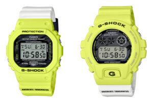 G-Shock DW-5600TGA-9 & DW-6900TGA-9 Lighting Bolt Motif for Team G-Shock