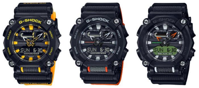 G-Shock GA-900 Series; GA-900A-1A9, GA-900C-1A4, and GA-900E-1A3