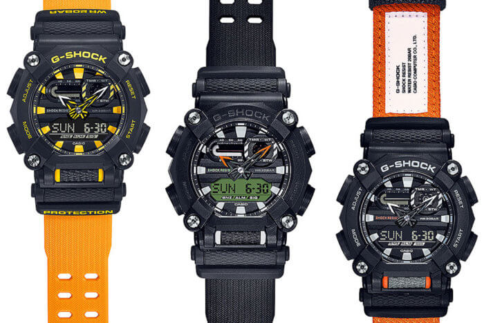 G-Shock GA-900 Bands: GA-900A-1A9, GA-900C-1A4, and GA-900E-1A3