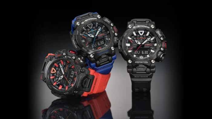 G-Shock GR-B200 Gravitymaster has a Quad Sensor and Carbon Core Guard