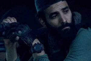 Marwan Kenzari wears G-Shock GPR-B1000 Rangeman in The Old Guard on Netflix