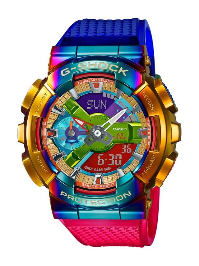 G-Shock GM-110RB-2A Gold and Rainbow IP
