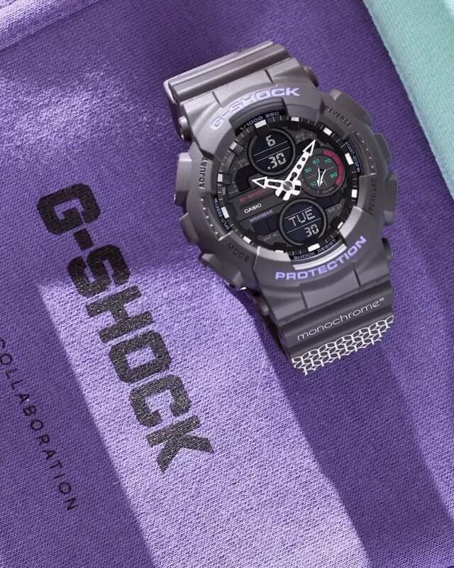 Monochrome x G-Shock GMA-S140 Purple Collaboration for Russia