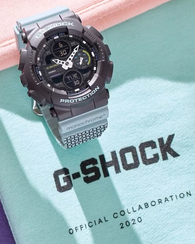 Monochrome x G-Shock GMA-S140 Turquoise Collaboration for Russia