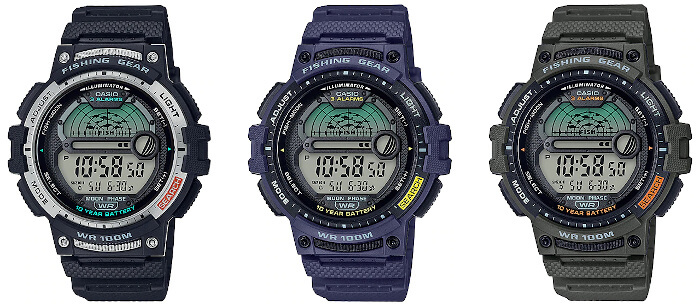 Casio Fishing Gear WS-1200H Watch with Fishing Timer