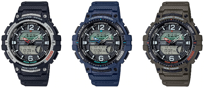 Casio Fishing Gear WSC-1250H Watch with Fishing Timer