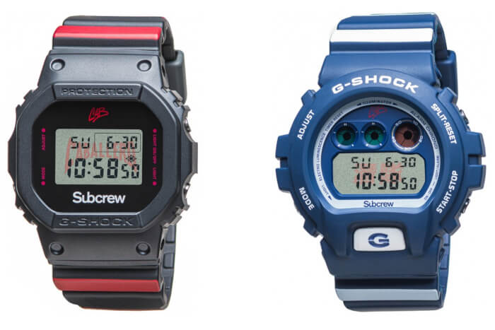 Steve Caballero x Subcrew x G-Shock DW-5600 and DW-6900