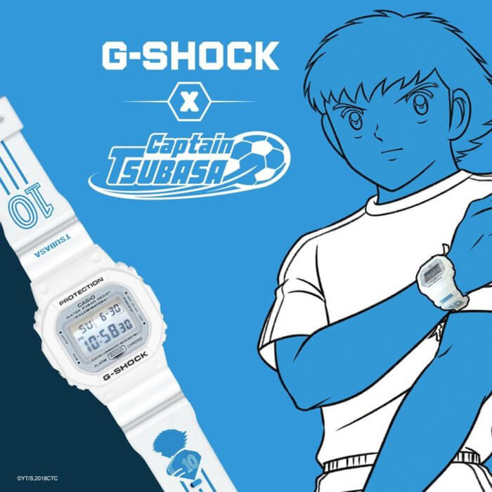Captain Tsubasa x G-Shock DW-5600 Collaboration Watch