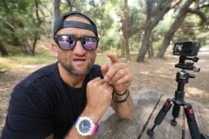 Casey Neistat wears Casio G-Shock GA-2100THB-7A Wristwatch