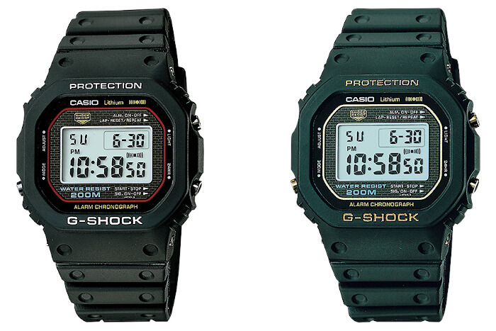 G-Shock DW-5000C-1A and DW-5000C-1B The First G-Shock Watches