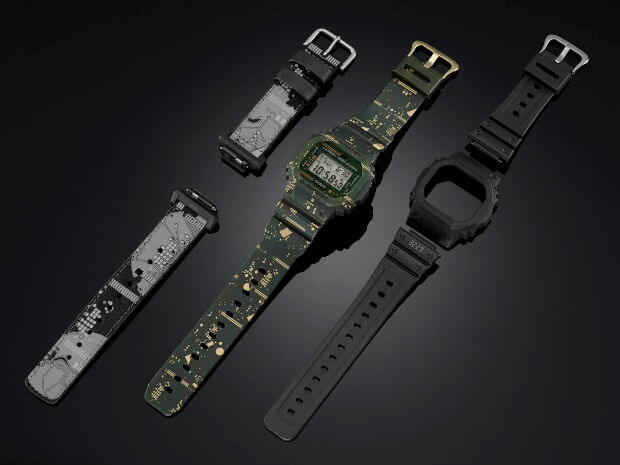 G-Shock DWE-5600CC-3 with 3 Bands