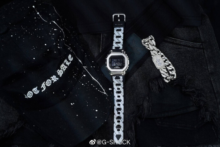 SMFK x G-Shock GM-S5600 Gift Box with Galaxy Bracelet
