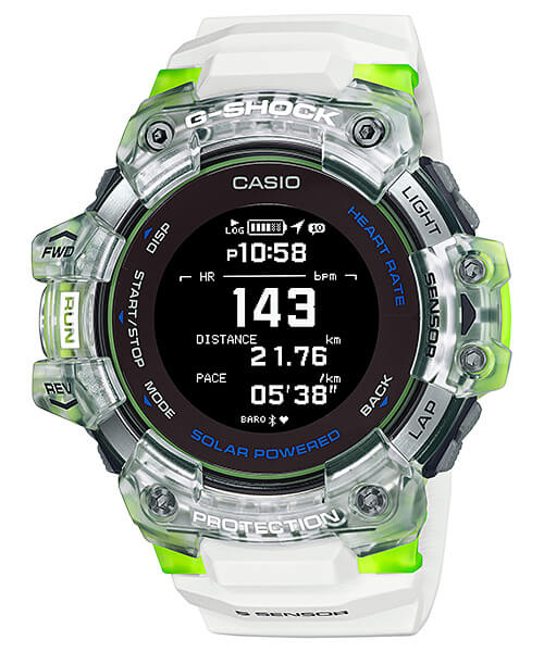 G-Shock GBD-H1000-7A9 White and Lime Green