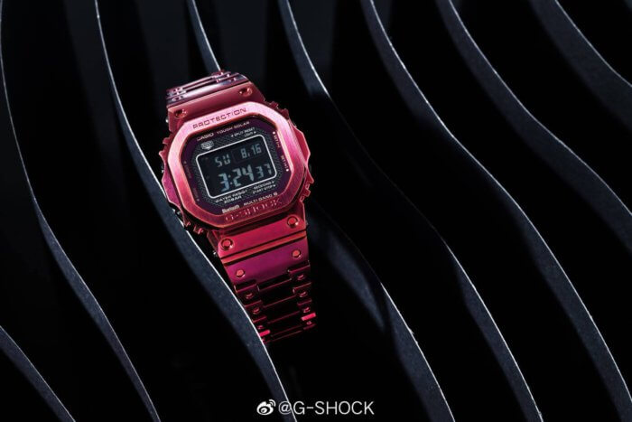 G-Shock GMW-B5000RD-4 Full Metal Stainless Steel Red Ion Plating