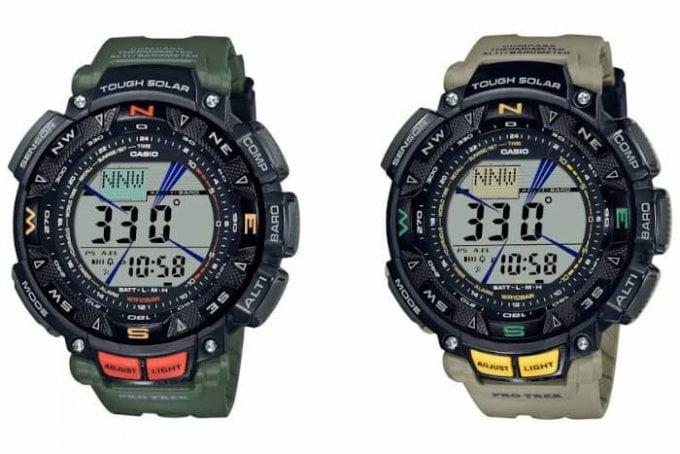 Casio Pro Trek PRG-240-3 and PRG-240-5