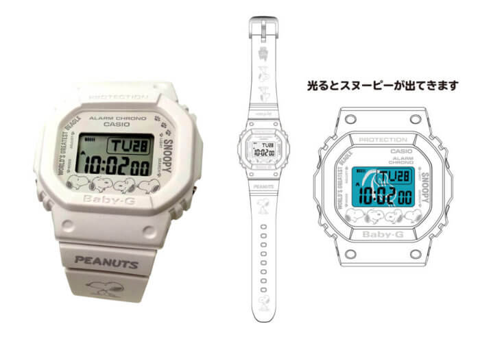 Peanuts Snoopy x Casio Baby-G BGD-501 Collaboration for Peanuts 70th Anniversary