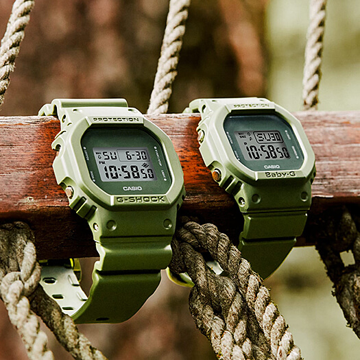 G-Shock DW-5600ET-3 and Baby-G BGD-560ET-3