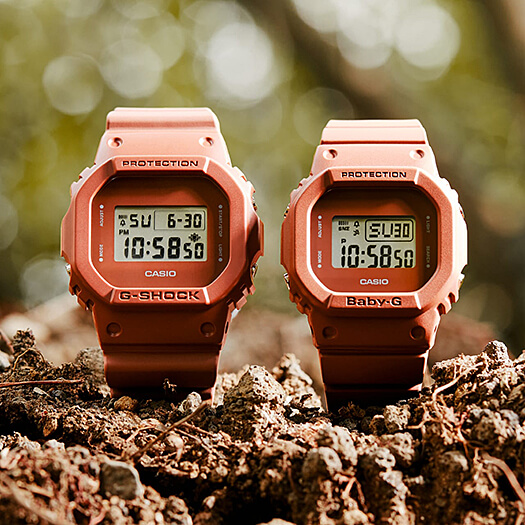 G-Shock DW-5600ET-5 and Baby-G BGD-560ET-5