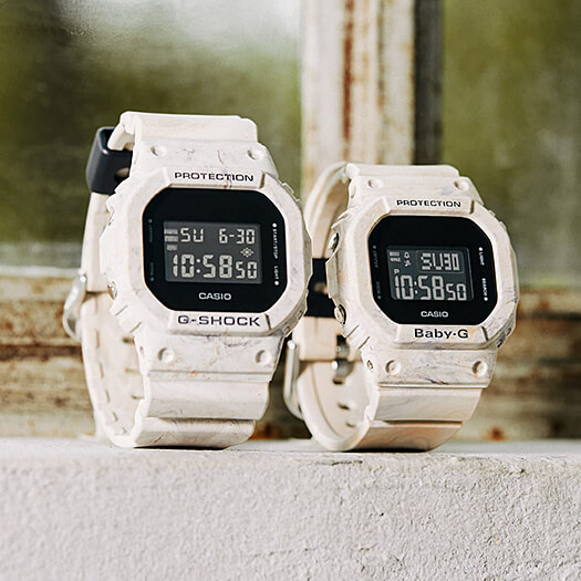 G-Shock DW-5600WM-5 and Baby-G BGD-560WM-5