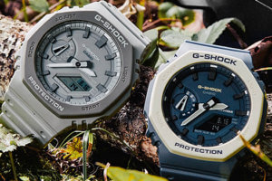 G-Shock Earth Tone GA-2110ET-2A & GA-2110ET-8A: Blue and White, Gray