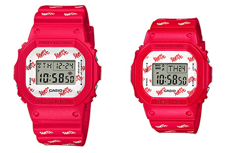 G Presents Lover's Collection 2020 LOV-20B G-Shock DW-5600 and Baby-G BGD-560