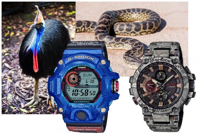 Love The Sea And The Earth 2020 G-Shock Rangeman GW-9406KJ-2JR Earthwatch MTG-B1000WLP-1AJR Wildlife Promising Snake Skin