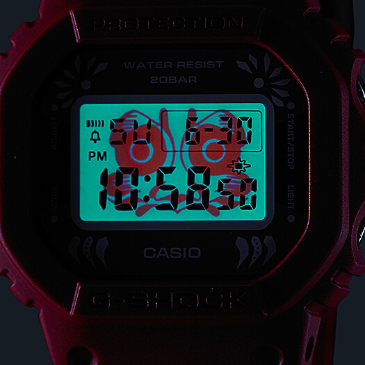 G-SHOCK DW-5600DA-4 DARUMA DOLL EL BACKLIGHT
