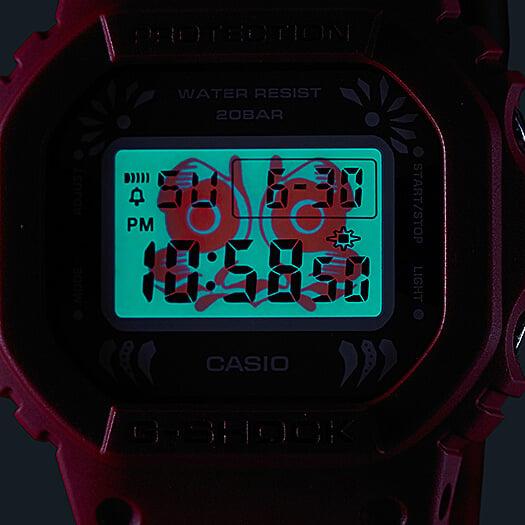 G-SHOCK DW-5600DA-4 DARUMA DOLL EL BACKLIGHT