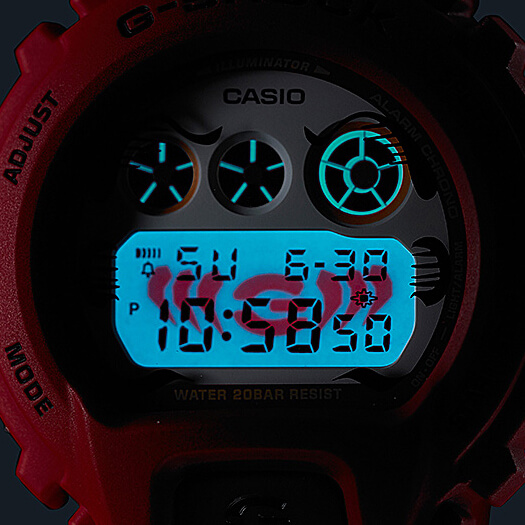 G-SHOCK DW-6900DA-4 DARUMA DOLL EL BACKLIGHT