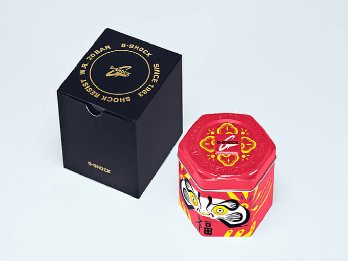 G-SHOCK DARUMA DOLL SERIES CASE AND BOX
